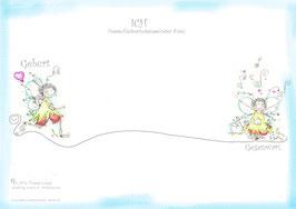 ELFI's Time-Line Aufstellungstafel♥ PVC Tuch ca.: 50 x 70cm