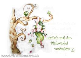 Joyful -Kobold Klappgrußkarte/ Blickwinkel♥