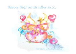JOYFUL-ANGEL Klappgrußkarte/ Balance♥