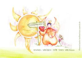 JOYFUL-ANGEL Klappgrußkarte/  Lebensfreude♥