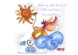 JOYFUL-ANGEL Klappgrußkarte/ Sonne♥