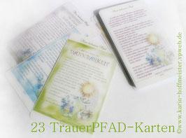>>NEU<< ...kreative Trauer - PFAD- Gestaltung 23 Karten im Set ♥ neues Format/neue Qualität