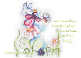 JOYFUL-ANGEL Klappgrußkarte/ Leichtigkeit♥