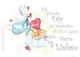 JOYFUL-ANGEL Klappgrußkarte/  Liebe verschenken♥