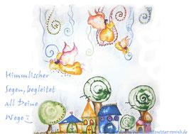 JOYFUL-ANGEL Klappgrußkarte/ himmlischer Segen♥
