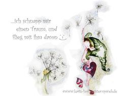 Joyful -Kobold Klappgrußkarte/ Traum♥
