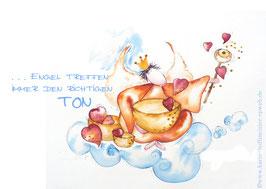 JOYFUL-ANGEL Klappgrußkarte/  Klangschalen♥