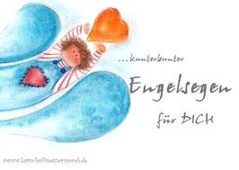 kunterbunter -Engelsegen Klappgrußkarte♥  Türkis