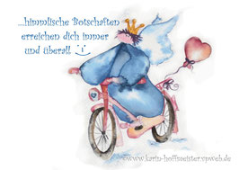 JOYFUL-ANGEL Klappgrußkarte/Fahrrad♥