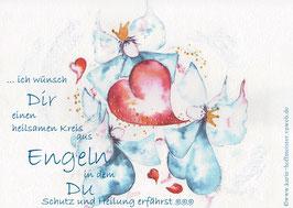 JOYFUL-ANGEL Klappgrußkarte/ Engelkreis♥