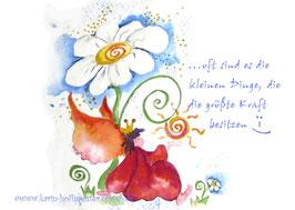 JOYFUL-ANGEL Klappgrußkarte/Gänseblümchen♥