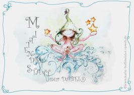Joyful -Kobold Klappgrußkarte/ Mittendrin♥