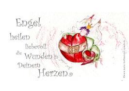 JOYFUL-ANGEL Klappgrußkarte/  Herzheilung♥