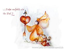 JOYFUL-ANGEL Klappgrußkarte/Amor♥