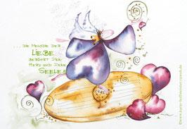 JOYFUL-ANGEL Klappgrußkarte/  Elfenharfe♥