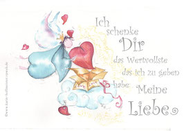 JOYFUL-ANGEL Klappgrußkarte/ Liebe schenken♥