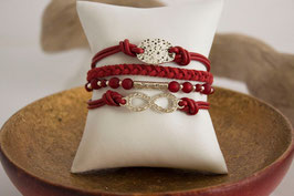 Arm Candy -  Infinity Marsala Red