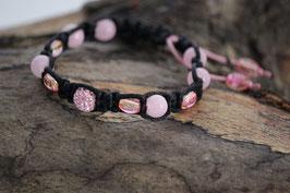 Shamballa-Style Armband Pink
