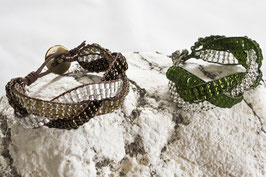 Geflochtenes Cuff Armband schmal