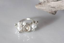 "Ring ""White Pearl"" - Echt Silber"