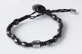 Männerarmband - Hämatit Makramee