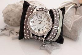 "3 fach Wickeluhr - Big Watch ""Grey-Silver"""