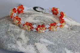 Blumen Armband - Swarowski Crystal