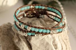 2-fach Wrap Armband mit Swarovski Elements