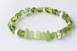 Flex Green-Silver - Böhmische Perlen