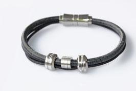 "Nappaleder-Armband ""Three Rings"""