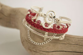 Arm Candy -  Cross - Marsala Red