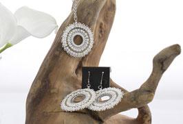 Circular Ohrringe aus Edelstahl & Toho Perlen