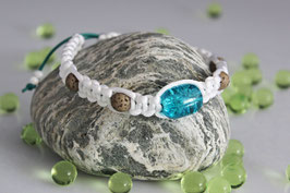 Shamballa-Style Armband Weiss-Crackle