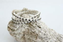 Wickelarmband Wildleder/Strass