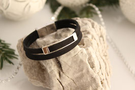 Bohostyle Armband - Nubukleder black
