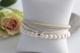 "Leder Armband ""Lovley Pearl"""