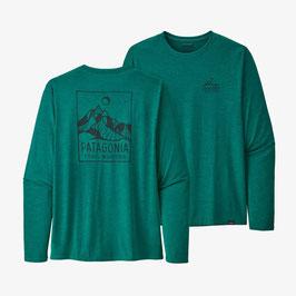 Patagonia M's L/S Capilene Daily Graphic T-Shirt 45190-Borealis GreenX-Dye