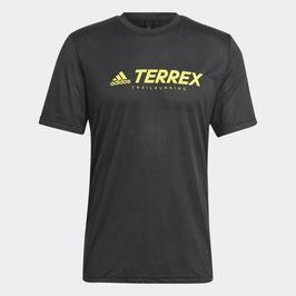 adidas Terrex camiseta TX TRAIL LOGO (GP4509-Blac/Aciyel)