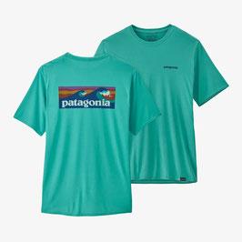 Patagonia M's Capilene Cool Daily Graphic Shirt (45235-Boardshort Logo:Iggy Blue X-Dye)