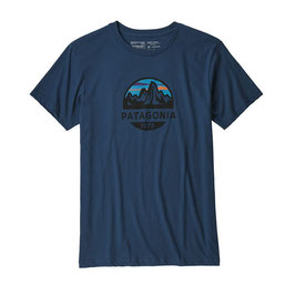 Patagonia Fitz Roy Scope Organic Cotton T-Shirt-Stone Blue