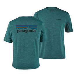Patagonia Men's Capilene® Daily Graphic T-Shirt P-6 Logo 45235-Tasmanian Teal