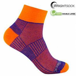 Wrightsock Coolmesh II - Un cuarto (Azul Royal/Naranja Neon)