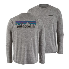 Patagonia Men's Capilene® Daily Graphic T-Shirt P-6 Logo 45190-Feather Grey