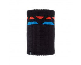 BUFF NECKWARMER KNITTED&POLAR RIGER BLACK 111048