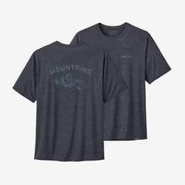 Patagonia Men's Capilene® Daily Graphic T-Shirt 45235-Smolder Blue X-Dye