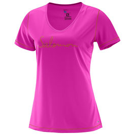 Salomon camiseta MAZY GRAPHIC SS TEE W Rose Violet 392746