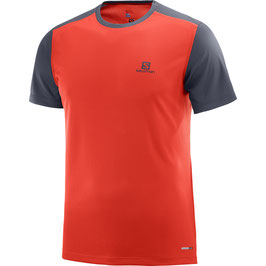 Salomon camiseta STROLL SS TEE M 400971-Fiery Red