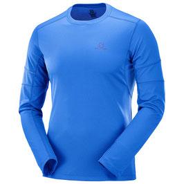 Salomon Agile LS Tee M - Nautical Blue