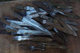 3 machetes cortados y soldados