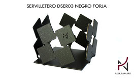 Servilletero DSER03 NEGRO FORJA